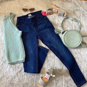 Dark Blue High-Waisted Jeggings Jeans
